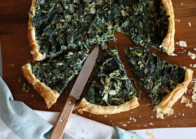Spenotós quiche